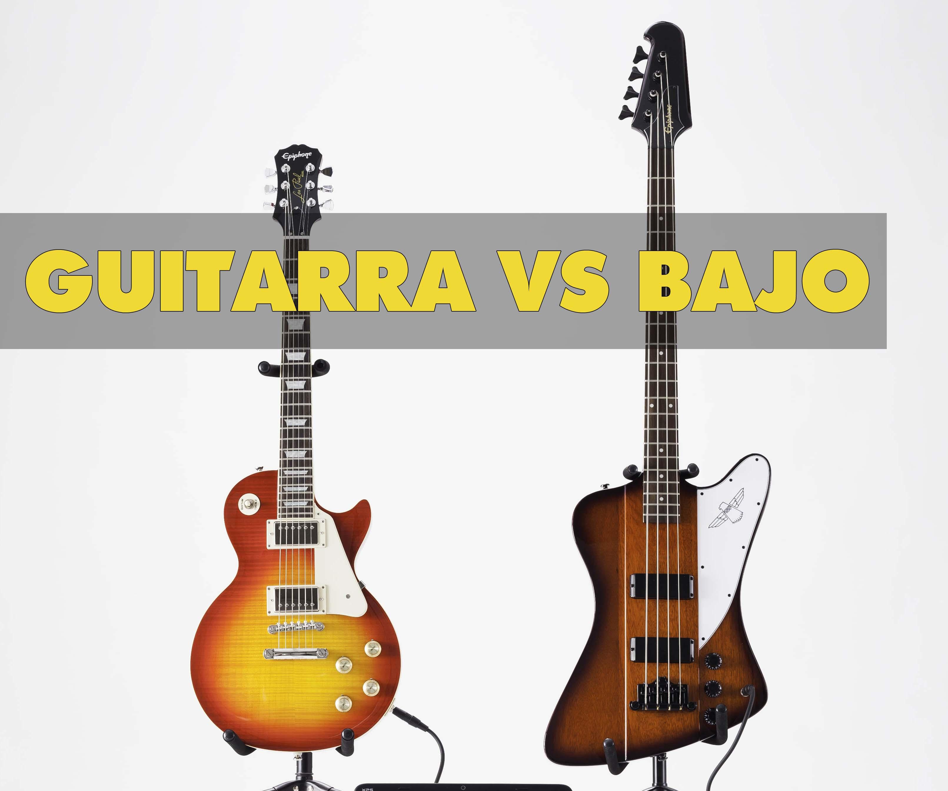 Guitarra o Bajo Diferencias y Cul es mejor para aprender a tocar