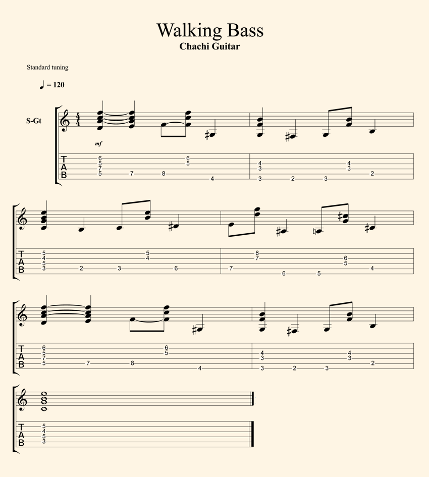 walking bass tab