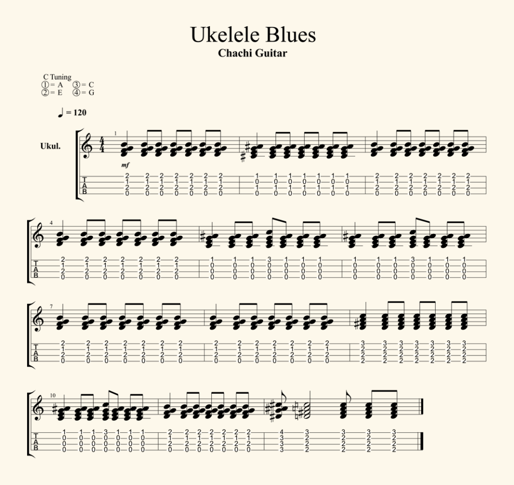Tab Ukelele Blues
