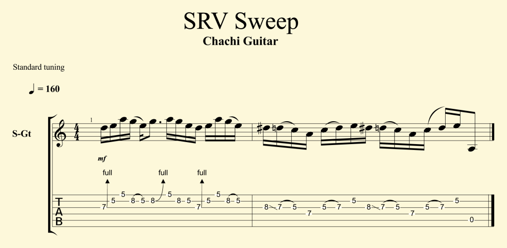 SRV SWEEP TAB