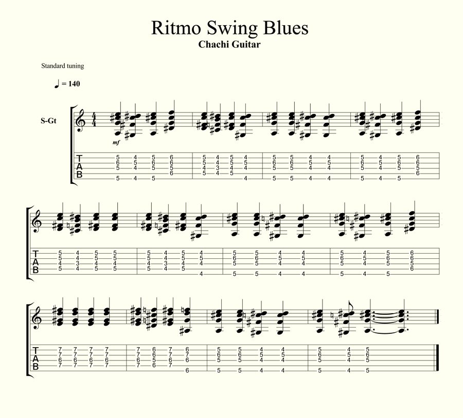 ritmo blues swing