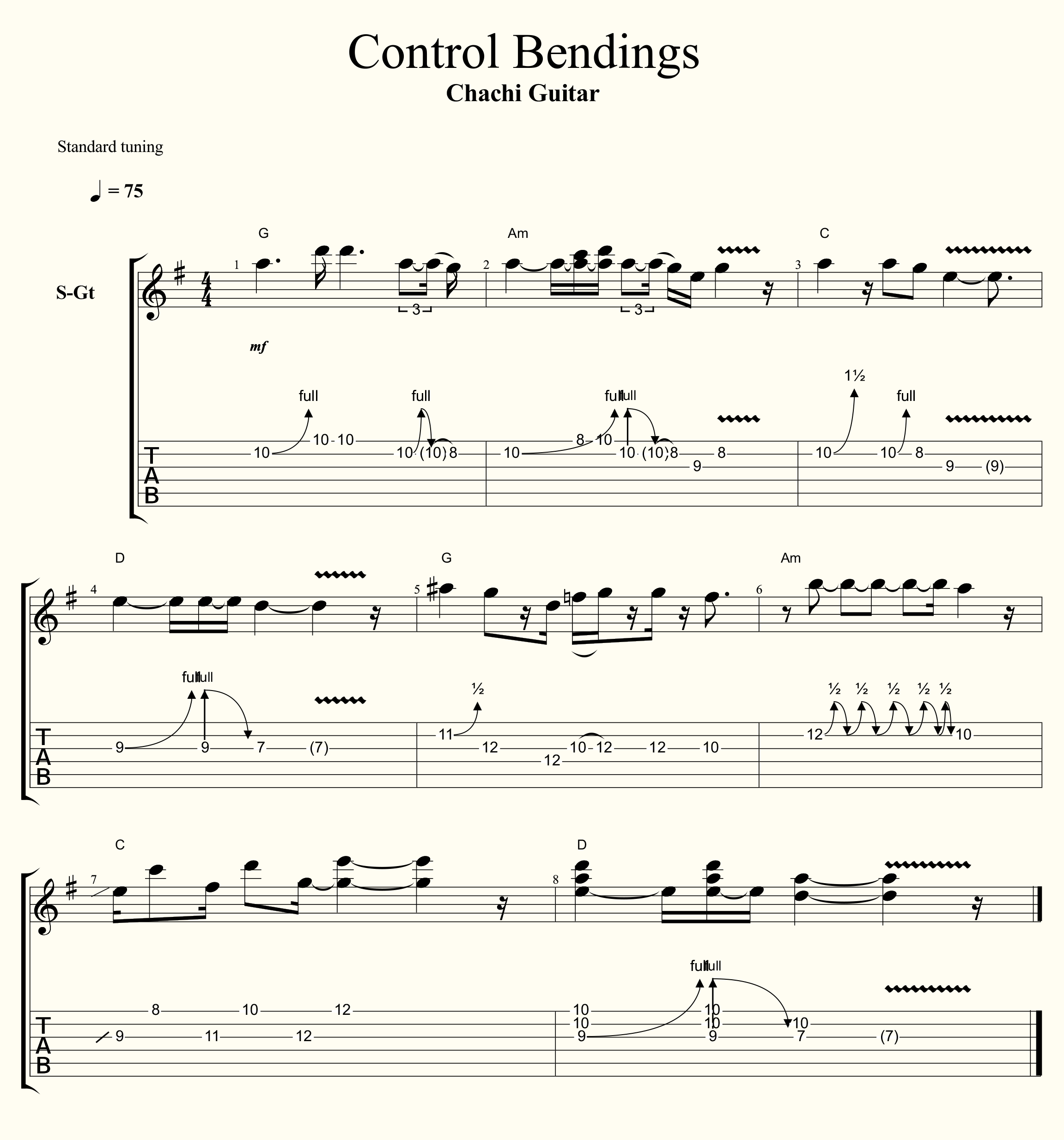 Control Bendings