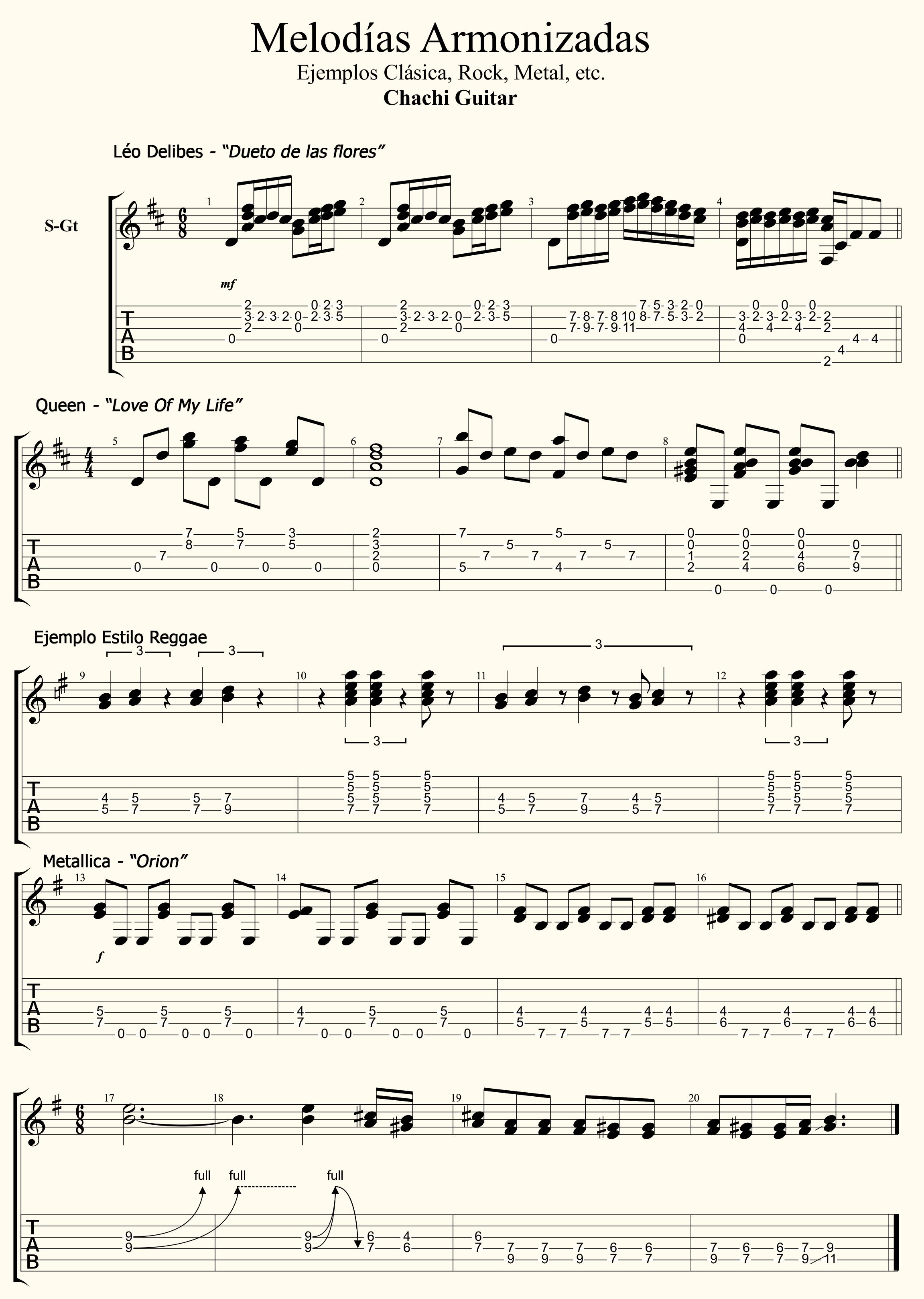 Melodías Armonizadas